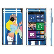 Snooky 39287 Digital Print Mobile Skin Sticker For Nokia Lumia 925 - Blue