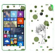 Snooky 39333 Digital Print Mobile Skin Sticker For Microsoft Lumia 535 - White