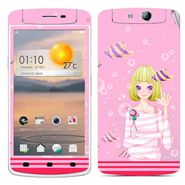 Snooky 39360 Digital Print Mobile Skin Sticker For OPPO N1 Mini - Pink