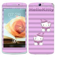 Snooky 39367 Digital Print Mobile Skin Sticker For OPPO N1 - Purple