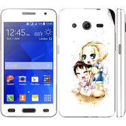 Snooky 39445 Digital Print Mobile Skin Sticker For Samsung Galaxy Core 2 G355h - White