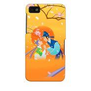 Snooky 35337 Digital Print Hard Back Case Cover For Blackberry Z10 - Orange