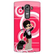 Snooky 37929 Digital Print Hard Back Case Cover For LG G4 - Rose Pink