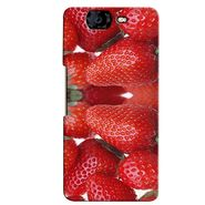 Snooky 35428 Digital Print Hard Back Case Cover For Micromax Canvas Knight A350 - Red