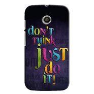 Snooky 35821 Digital Print Hard Back Case Cover For Motorola Moto E - Black