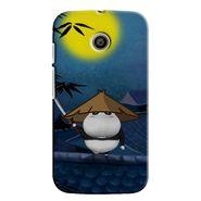 Snooky 35840 Digital Print Hard Back Case Cover For Motorola Moto E - Blue