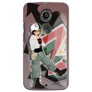 Snooky 35908 Digital Print Hard Back Case Cover For Motorola Moto X2 - Brown
