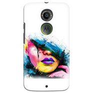 Snooky 35933 Digital Print Hard Back Case Cover For Motorola Moto X2 - White