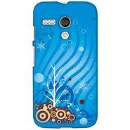 Snooky 38612 Digital Print Hard Back Case Cover For Motorola Moto G - Blue