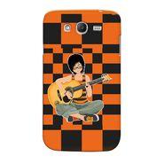 Snooky 35496 Digital Print Hard Back Case Cover For Samsung Galaxy Grand 2 - Black