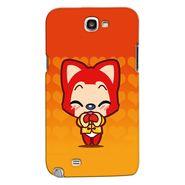 Snooky 35630 Digital Print Hard Back Case Cover For Samsung Galaxy Note 2 N7100 - Orange