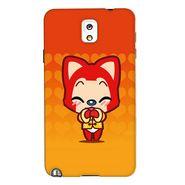 Snooky 35680 Digital Print Hard Back Case Cover For Samsung Galaxy Note 3 N900  - Orange