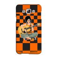 Snooky 36477 Digital Print Hard Back Case Cover For Samsung Galaxy E7 - Black