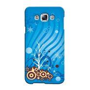 Snooky 36512 Digital Print Hard Back Case Cover For Samsung Galaxy E7 - Blue