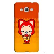 Snooky 36561 Digital Print Hard Back Case Cover For Samsung Galaxy Grand max - Orange