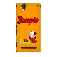 Snooky 36884 Digital Print Hard Back Case Cover For Sony Xperia T2 Ultra - Yellow