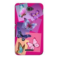 Snooky 37704 Digital Print Hard Back Case Cover For Sony Xperia E4 - Pink