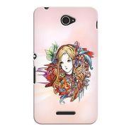 Snooky 37708 Digital Print Hard Back Case Cover For Sony Xperia E4 - Multicolour