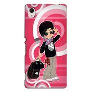 Snooky 37829 Digital Print Hard Back Case Cover For Sony Xperia M4 AQUA DUAL - Rose Pink