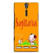 Snooky 37890 Digital Print Hard Back Case Cover For Sony Xperia S - Yellow