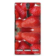 Snooky 37909 Digital Print Hard Back Case Cover For Sony Xperia S - Red