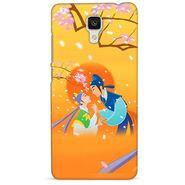 Snooky 38418 Digital Print Hard Back Case Cover For Xiaomi MI 4 - Orange