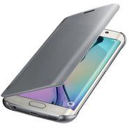Flashmob C343FC Leather Finish Flip Cover For Samsung Galaxy S6 - Grey