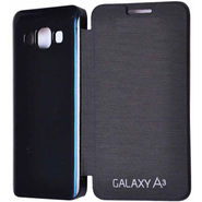 Flashmob C395FC Satin Finish Flip Cover For Samsung Galaxy A3 - Black