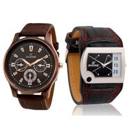 Combo of Men Watch + Leather Wrist watch For Women_Combo5