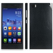 Snooky 18639 Mobile Skin Sticker For Xiaomi Mi3 - Black