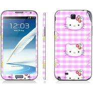 Snooky 39464 Digital Print Mobile Skin Sticker For Samsung Galaxy Note 2 N7100 - Pink