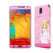 Snooky 39480 Digital Print Mobile Skin Sticker For Samsung Galaxy Note 3 N9000 - Pink