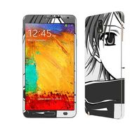 Snooky 39482 Digital Print Mobile Skin Sticker For Samsung Galaxy Note 3 N9000 - Grey