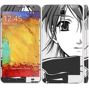 Snooky 39518 Digital Print Mobile Skin Sticker For Samsung Galaxy Note 3 Neo - Grey