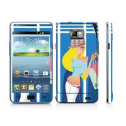 Snooky 39527 Digital Print Mobile Skin Sticker For Samsung Galaxy S2 I9100 - Blue