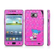 Snooky 39531 Digital Print Mobile Skin Sticker For Samsung Galaxy S2 I9100 - Pink