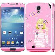 Snooky 39552 Digital Print Mobile Skin Sticker For Samsung Galaxy S4 I9500 - Pink