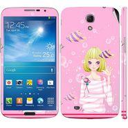 Snooky 39612 Digital Print Mobile Skin Sticker For Samsung Galaxy Mega 6.3 - Pink