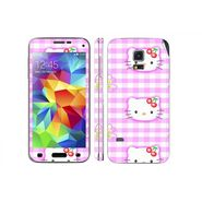 Snooky 39620 Digital Print Mobile Skin Sticker For Samsung Galaxy S5 - Pink