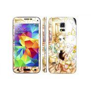 Snooky 39629 Digital Print Mobile Skin Sticker For Samsung Galaxy S5 Mini - White