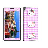 Snooky 39644 Digital Print Mobile Skin Sticker For Sony Xperia C / S39h - Pink