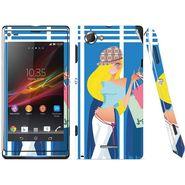 Snooky 39671 Digital Print Mobile Skin Sticker For Sony Xperia L S36h C2105 - Blue