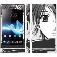 Snooky 39698 Digital Print Mobile Skin Sticker For Sony Xperia S - Grey