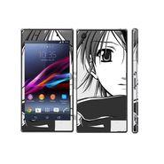 Snooky 39746 Digital Print Mobile Skin Sticker For Sony Xperia Z1 - Grey