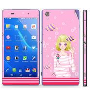Snooky 39756 Digital Print Mobile Skin Sticker For Sony Xperia Z2 - Pink