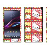 Snooky 39786 Digital Print Mobile Skin Sticker For Sony Xperia Z Ultra - Pink