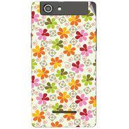 Snooky 40838 Digital Print Mobile Skin Sticker For XOLO A500S - White