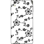 Snooky 40930 Digital Print Mobile Skin Sticker For XOLO A1010 - White