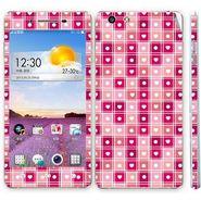 Snooky 41349 Digital Print Mobile Skin Sticker For OPPO R1 R829t - Pink