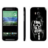 Snooky 41409 Digital Print Mobile Skin Sticker For HTC One M8 - Black